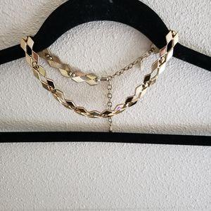 Vintage Monet Geometric Choker Necklace